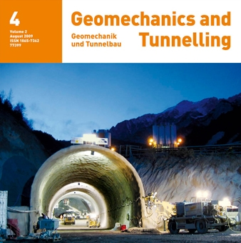 Subsoil movements due to boring of shallow tunnels with shield machines – application of finite elements in connection with a universally formulated material model - Geomechanics and Tunneling 2, No. 4, 2009, 2009